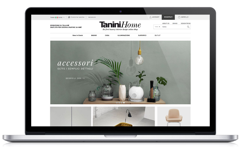 Tanini Home - Website